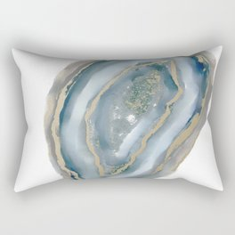 geode art, geode agate, agate art, contemporary art, abstract geode, abstract art, cabin art, cabin Rectangular Pillow