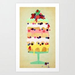 Fairy Cake Art Print