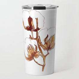 Cotton Watercolor Painting Travel Mug
