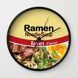Ramen Noodle Soup - Beef Flavor Wall Clock