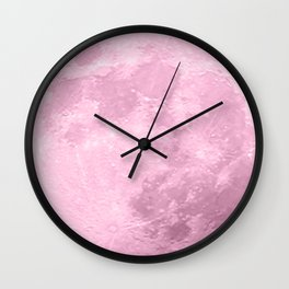 COTTON CANDY PINK MOON Wall Clock