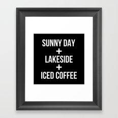 Sunny Day+Lakeside+Iced Coffee Framed Art Print