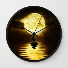 Beauty Mermaid Starry Night Wall Clock