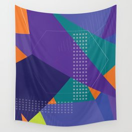 """ Skate park"" geometric pop Wall Tapestry"