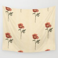 peony Wall Tapestries featuring Peony by Megan Howe