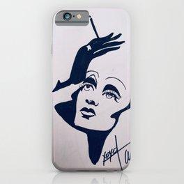 Marlene Sillhouette iPhone Case