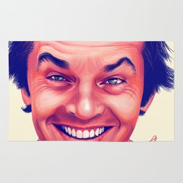 Young Jack Nicholson and the evil smile - digital painting Rug