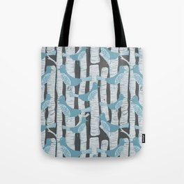 For the Birds and Birch Trees Tote Bag