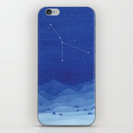 Cancer constellation, mountains iPhone Skin