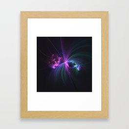 Fireworks Fractal Framed Art Print