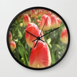 Tulip Heaven Wall Clock