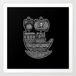 Pirate Ship - Scourge of Nurnen Art Print