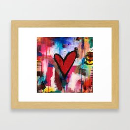 Heart of Ice Framed Art Print