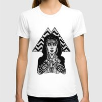laura palmer T-shirts featuring She's Filled with Secrets - Laura Palmer - Twin Peaks by Alice Rogers