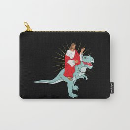 Jesus Riding A Dinosaurs Rex Gift Carry-All Pouch