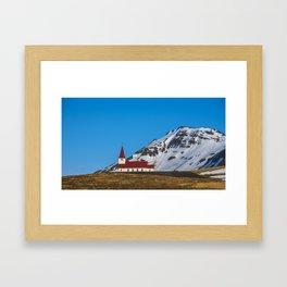 Vik Church Iceland Framed Art Print