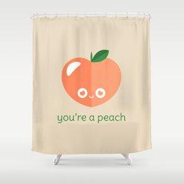 You're a Peach Shower Curtain