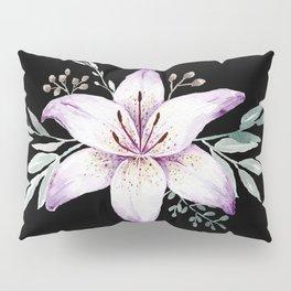 Lilium black Pillow Sham
