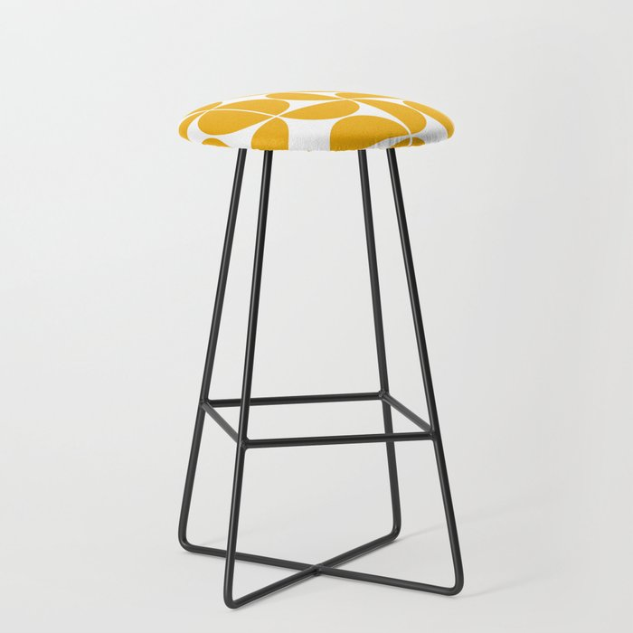 Mid Century Modern Geometric 04 Yellow Bar Stool