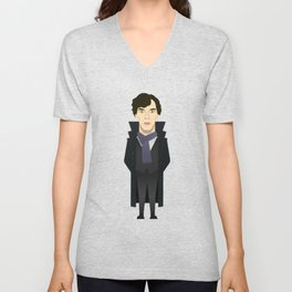 Watching The Detectives #2: Portrait Unisex V-Neck