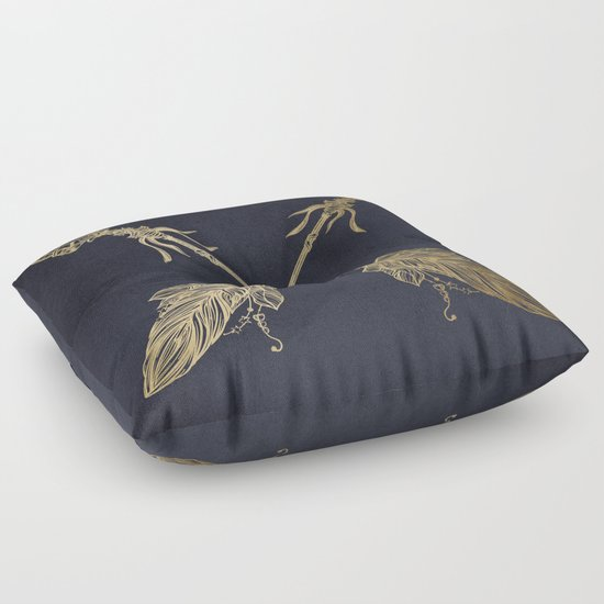 Arrows Gold Copper Bronze on Navy Blue Floor Pillow by Nature Magick Society6