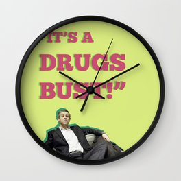 It's A Drugs Bust! Wall Clock