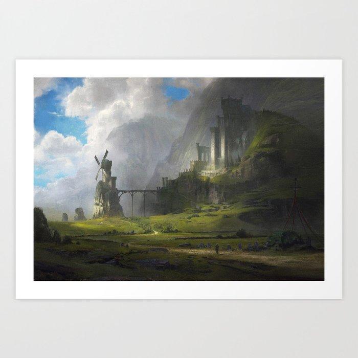 Ventus Castle Art Print