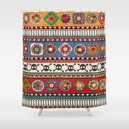 Aztec background Shower Curtain