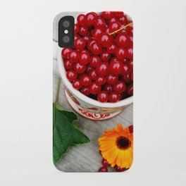 A cup of red currants I iPhone Case