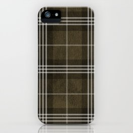 Grungy Brown Plaid iPhone Case