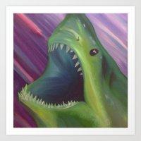Jaws 3 Art Print