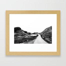 Road through Fairy Glen - B/W Framed Art Print