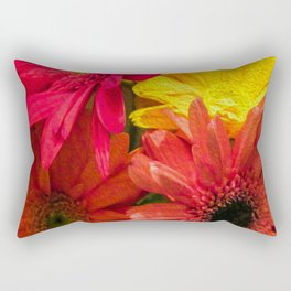 Sunny Daisy Flower Art Rectangular Pillow