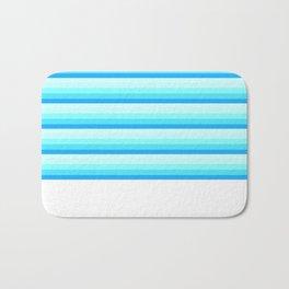 Turquoise Aqua Stripes Bath Mat