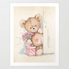 Bear in The Room Art Print