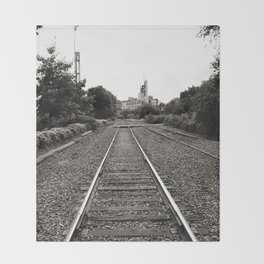 Railroad Tracks Throw Blanket