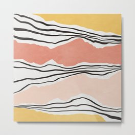 Modern irregular Stripes 01 Metal Print