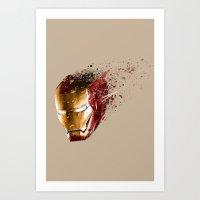ironman Art Prints featuring Ironman by EnragedPeasant