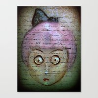 writer Canvas Prints featuring Ghost Writer by Terrestre