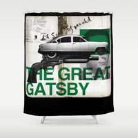 gatsby Shower Curtains featuring The Great Gatsby by paragraph