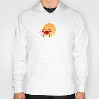 cancer Hoodies featuring Cancer by Geni