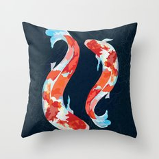 Lucky Koi Fish Throw Pillow