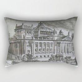 Edificio Reichstag / Reichstag Building (Berlin - 1900) Rectangular Pillow