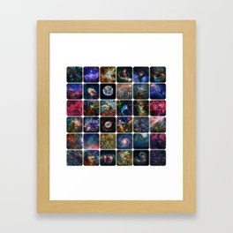 The Amazing Universe - Collection of Satellite Imagery Framed Art Print