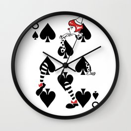 Sawdust Deck: The 8 of Spades Wall Clock
