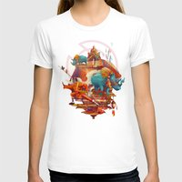 stone T-shirts featuring rhinos stone by Tanya_tk