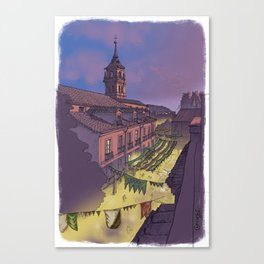 Medieval Fair (color) Canvas Print