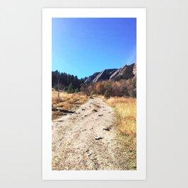 Chautauqua Trail - Boulder, Colorado Art Print