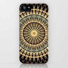Black Gold Mandala iPhone Case