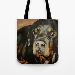 Dogs Lover Rottweiler Pet Portrait Tote Bag